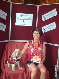 Me and Fern the Hearing Dog at the end