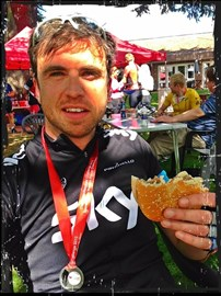 A very healthy recovery snack after competing the 80 miles...