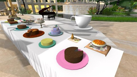 Cakes set out for last year's coffee morning
