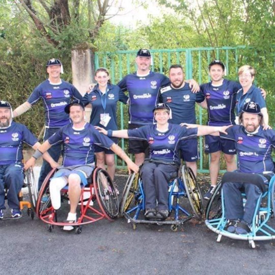 Peter Scotland RL Wheelchair Team Manager