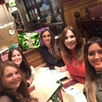 Katie, Nicola, Stefanie, Gemma, Stacy and Marvin