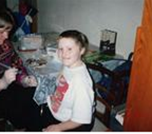 Aged eight getting some chemo injections
