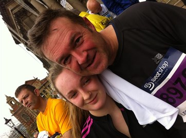 Jess and I - after we recovered from the race!