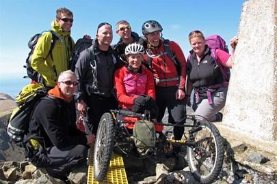 Paralympian Karen at Cadair Idris summit