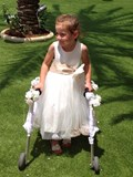 Scarlett as bridesmaid for mummy and daddy's wedding.