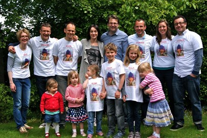 Some of the team and their supporters.