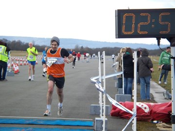 Finish Line at Spitfire 20 Mile Race