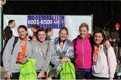 Finish line of Brighton Half Marathon!